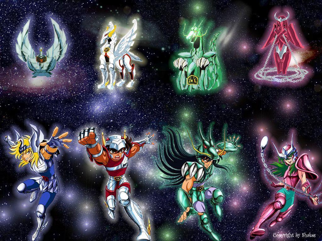 quatres principaux chevaliers de bronze des chevaliers du Zodiaques